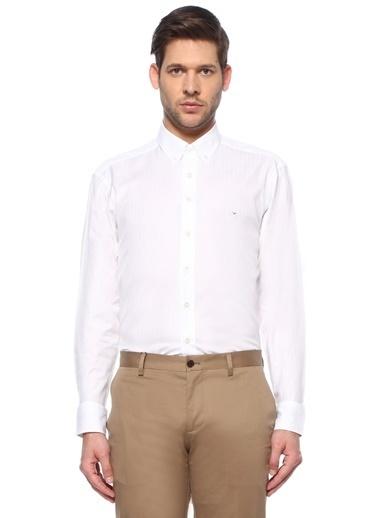 Etro Etro  Polo Yaka Desenli Gömlek 101617706 Beyaz